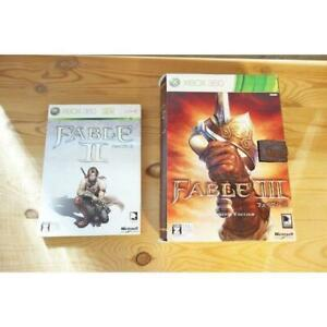 Microsoft Limited edition XBOX 360 software Fable 2 3 set of 2 Used Near Mint