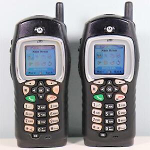 2x Motorola i355 (Direct Talk - Nextel) 2-Way Radio PTT No Service Required