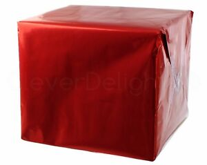 """Metallic Red Wrapping Paper - 30"""" x 300"""" JUMBO Roll - 62.5 Sq Ft - Shiny Wrap"""