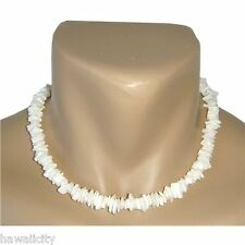 "Hawaiian Jewelry White Shell Necklace from Hawaii 16"""