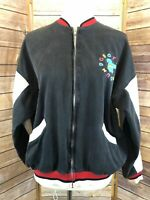 Rare Vintage Mickey & Co Classic Sports Front Zipped Black Goofin Around Jacket