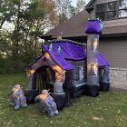 Gemmy 2006 12.5ft Airblown Inflatable Haunted House Halloween Gargoyle Lawn Deco