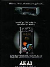 Publicité 1992  AKAI  Magnétoscopes et Cassettes
