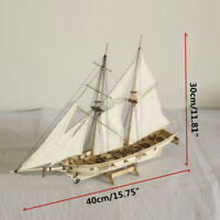 1:120 Scale Wooden Sailboat Wood Ship Kits Collectible Model Kids Educational Z