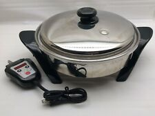 SALADMASTER Model K7356 Digital Oil Core Electric Skillet VAPO LID