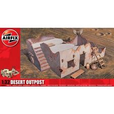 1:32 Airfix Diorama Desert Outpost Checkpoint North African Set Model Kit A06381