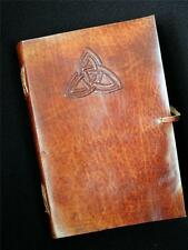 Handmade A5 Leather Journal Diary Sketchbook - Celtic TRIQUETRA Knot