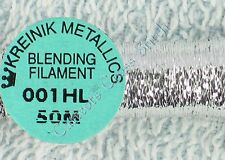 Kreinik Blending Filament 001HL Silver Hi Lustre Metallic Thread 50M