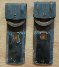 Vintage Pair National Mfg. Barn Sliding Door  Hangers / Rollers USA Salvage
