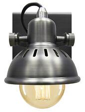 Vintage Wall Light Dark Grey Pewter Finish Brooklyn Style Adjustable Swivel Spot