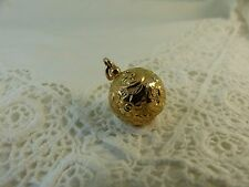 Antique Victorian 9ct 9carat Rose Gold Ornate Albertina Fob Charm Ball