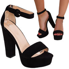 Sandali donna scarpe tacco comodo cinturino scamosciate eleganti tacchi 8338-8