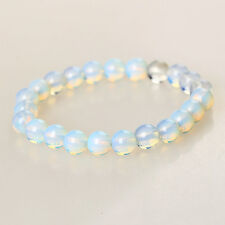 Chic Opal Moonstone Round Gemstone Beads Elastic Bracelet Best Gift Jewelry 1pc