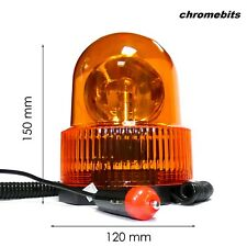 12V Flashing Amber Magnetic Recovery Orange Beacon Lamp Light With Bulb