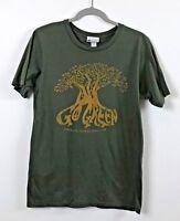 Disney Parks Women's Short Sleeve 100% Organic Cotton T-Shirt-Green-Size Medium