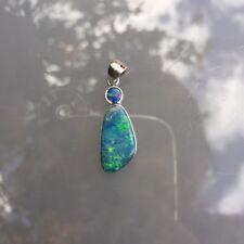 Doublet OPAL pendant Lovely Drop design Sterling Sliver 925 coated Rhodium 07131