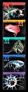 DEEP SEA CREATURES STAMPS ~ 2000 U.S. Ocean Stamp Set #3439-3443 MNH MINT