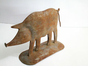 Hand made iron Pig trade sign / store display sign hog/ Table Top /collectible
