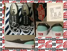 Authentic NEW TAGGED VANS Custom Gray & Mint/Off Green Mens Size 10 W/Bag
