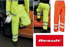 Pantaloni da lavoro ad alta visibilità unisex poliestere RESULT giallo e arancio