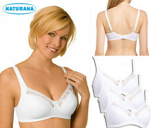 32DD Pack Of 3 Naturana Non Wired Soft Cup Bra 86666 White