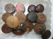 MIXED LOT OF ANTIQUE VICTORIAN ERA WALNUT DRAWER/DRESSER PULLS -  LOT #4