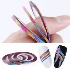 3 Pcs Matte Rainbow Nail Striping Tape Line 1 - 3mm Nail Art Adhesive Stickers