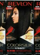 1 Revlon 10 10N Black Ammonia Free Vivid Hair Color Colorsilk Buttercream