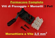 Fermacavo Bloccacavo Fissaggio cavo morsettiera elettrica Morsetto MAMMUT 2,5mm