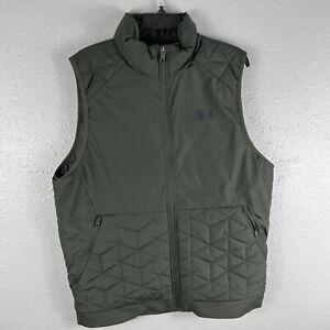 Under Armour Men's UA Storm ColdGear Vest Large L 1342700 Olive Green Golf $130