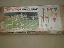Vintage Lawnplay Chip-It Golf By South Bend complete  Instructions & Score Cards