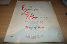 EARLY CLASSICS for LATE BEGINNERS by MARGERY DAWE 1950's CLASSICAL SHEET MUSIC.