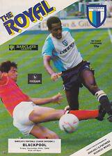 Football Programme>READING v BLACKPOOL Dec 1988