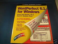 VINTAGE WORDPERFECT 6.1 FOR WINDOWS LEARNING GUIDE