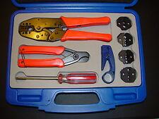LMR400 300 240 195 100 RG178 179 ATT 735 736 DS3/4 Coax Cable Crimper Tool Kit