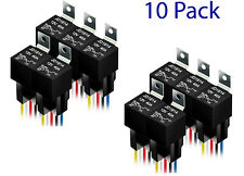 10 Pack 12V 30/40 Amp 5Pin SPDT Automotive Relay with Wires & Harness Socket Set
