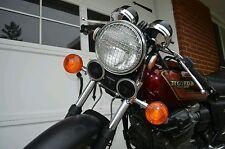 "7"" inch Triumph headlight stone guard CHROME Cafe racer vintage bobber chopper"