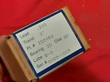 1 New Universal Lead Screw And Nut Assembly 3 Travel 200163 31g5