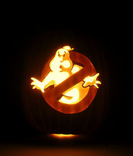 "30th Anniversary GHOSTBUSTERS No-Ghost Logo (Hand-Carved Foam Pumpkin 12"")"