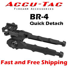 Accu-Tac BR-4 Quick Detach Picatinny Mount Rifle Bipod w/ Rubber Feet BRBQD-0400