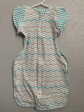 Love to Dream Swaddle Up 50/50 - Medium Removable Wings Chevron Stripes