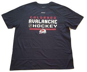 Reebok Colorado Avalanche T-Shirt NHL Center Ice Tee Big & Tall Sizes XLT - 6X