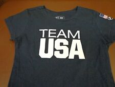 Women's Team USA Olympic Short Sleeve T-Shirt Blue size Medium   J1