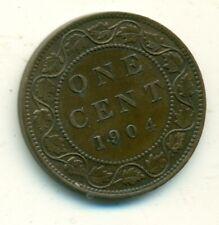 Canada 1 cent 1904 AU55