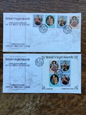 Pair 1983 British Virgin Islands Christmas First Day Covers