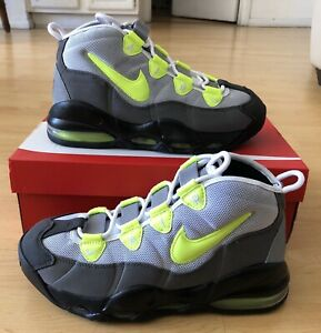 Nike AIR MAX UPTEMPO 95 QS Mens Sz 8.5 PEWTER/VOLT CK0891-002 NEW W/ Box 97 90