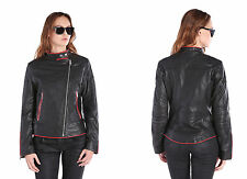 Diesel L-SPIKE LEATHER JACKETS / SS 2015 BLACK Size/Small women NWT/$698