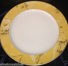 """ROSENTHAL CONTINENTAL R2748 12 1/8"""" SERVICE PLATE CHARGER YELLOW RIM EPOQUE"""