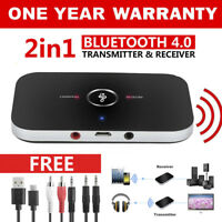 HIFI Wireless Bluetooth 2 in1 Audio Transmitter Receiver 3.5MM RCA Adapter ST