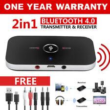 HIFI Wireless Bluetooth 2 in1 AudioTransmitter Receiver 3.5MM RCA Music Adapter、